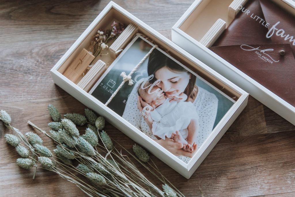 Holzbox Verpackung für Fotografien Aschaffenburg